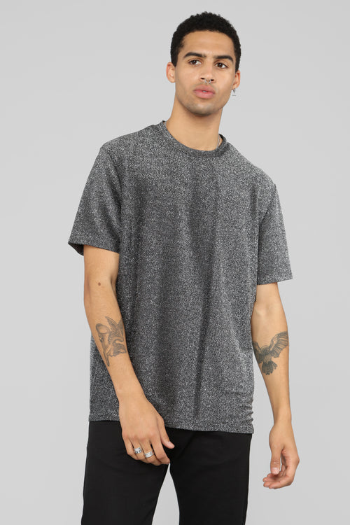 Mochnaly Short Sleeve Tee - Silver/Black