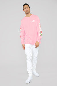 Paris Long Sleeve Tee - Pink/Combo Angle 3