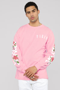 Paris Long Sleeve Tee - Pink/Combo Angle 1