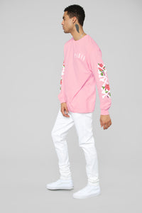 Paris Long Sleeve Tee - Pink/Combo Angle 5