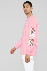 Paris Long Sleeve Tee - Pink/Combo Angle 6