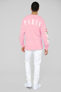 Paris Long Sleeve Tee - Pink/Combo Angle 7