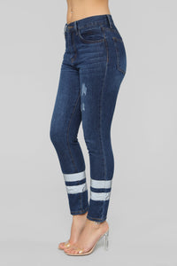 Stepping Out High Rise Jeans - Dark Denim