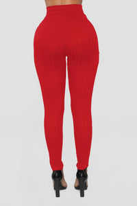 Gonna Tie Our Love Pant Set - Red