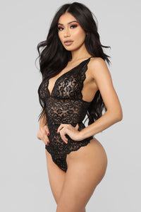 In A Lace Mood Teddy - Black