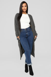 Only Me Cardigan - Charcoal