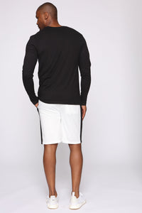 Retro Track Short - White/Black Angle 6