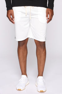 Retro Track Short - White/Black Angle 3