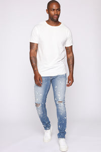 Chase Skinny Fit Jeans - Medium Wash Angle 4