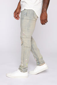 Ballin In the City Distressed Skinny Jean - Light Fade Wash Angle 3