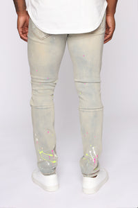 Ballin In the City Distressed Skinny Jean - Light Fade Wash Angle 5