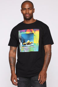 Stolen Whip Short Sleeve Tee - Black/combo Angle 3