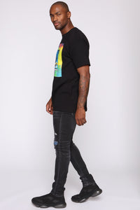 Stolen Whip Short Sleeve Tee - Black/combo Angle 5