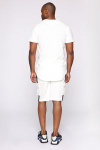 Post Cargo Short - White/Black Angle 6