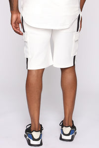 Post Cargo Short - White/Black Angle 5