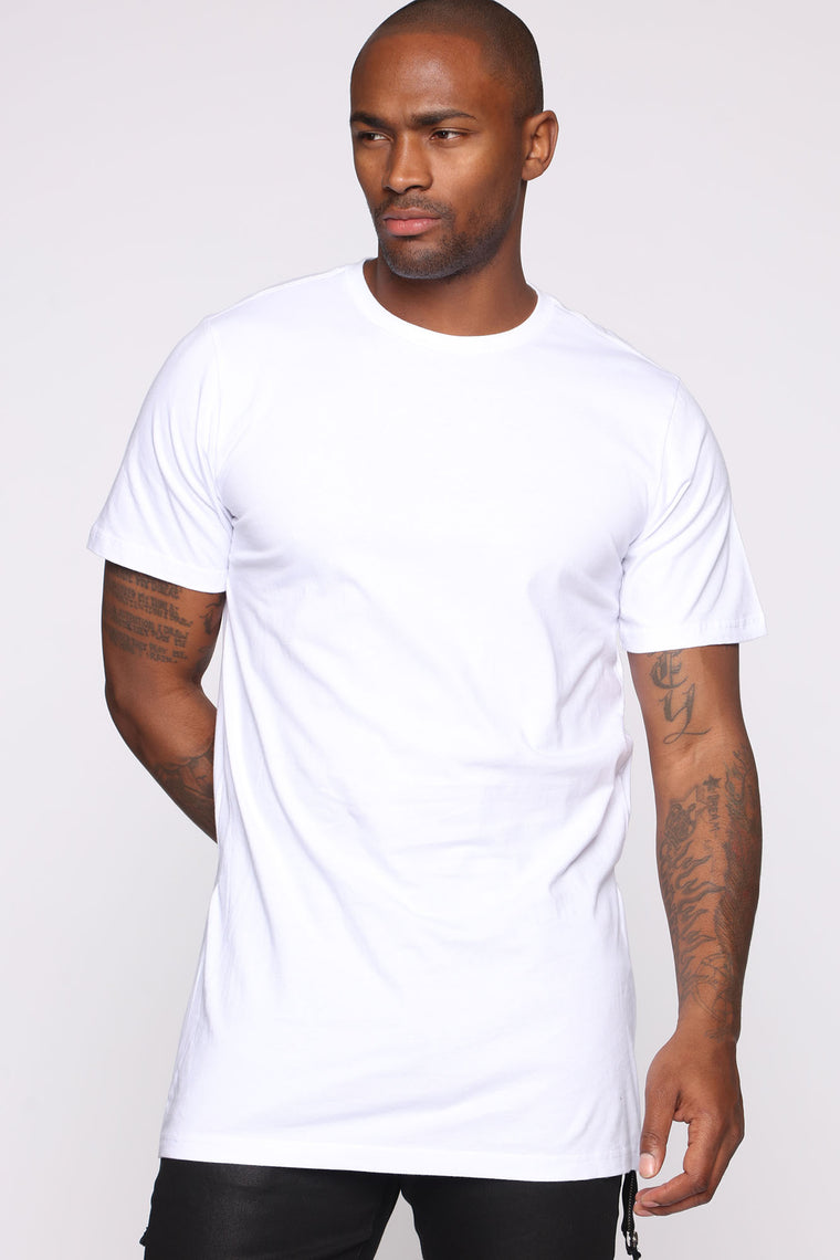 Hustle Side Zip Short Sleeve Tee - Black/White