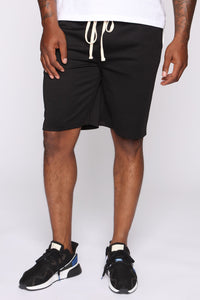 Retro Track Short - Black/White Angle 3