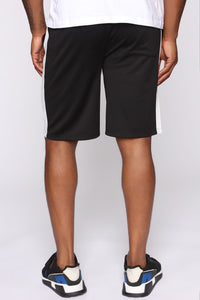 Retro Track Short - Black/White Angle 6