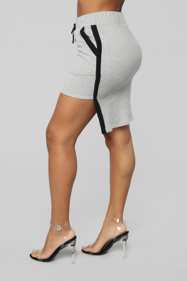 Sporty Shorty Skirt Set - Heather Grey