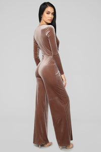 So Knot Your Average Jumpsuit - Taupe