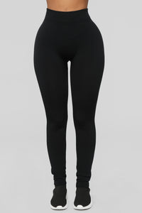 Double Down Fleece Leggings 2 Pack - Black/Wine