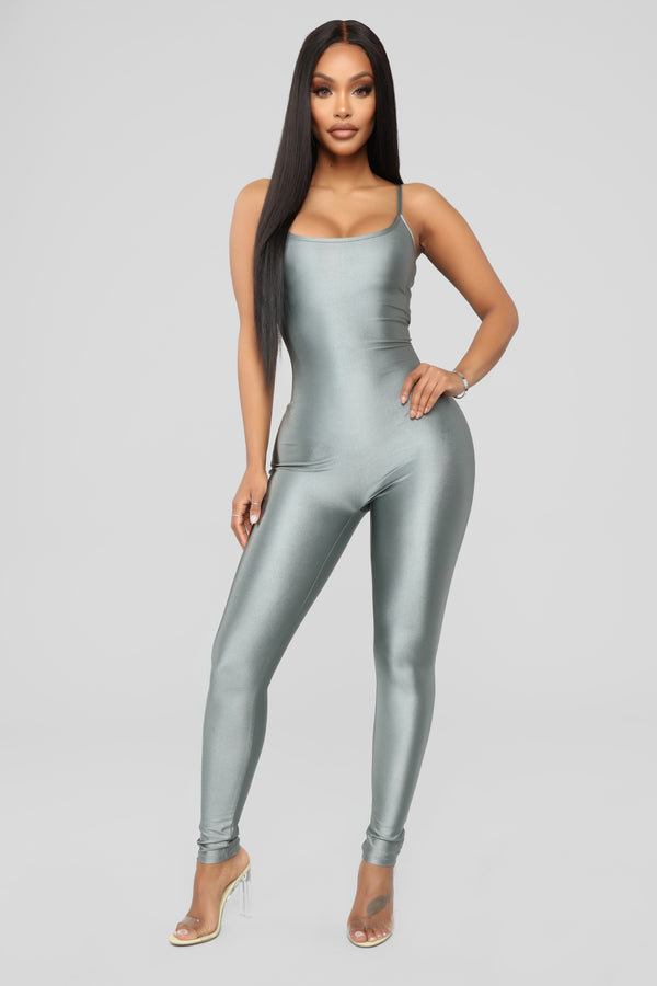 f034bcc023c0 Curves For Miles Jumpsuit - Silver