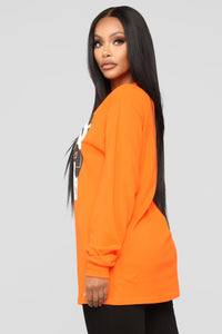 Ven Conmigo LS Top - Neon Orange