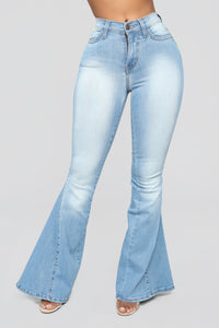 Camera Ready Flare Jeans - Light Blue Wash