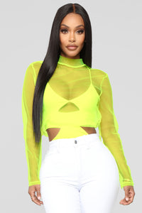 Party Mode Bodysuit - Lime