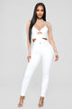 Party Mode Bodysuit - White