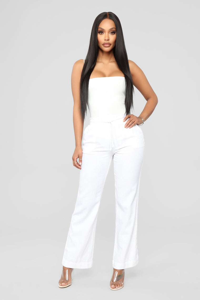 Movin And Groovin Pants - White