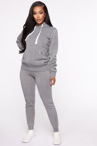 Sweet Dreams Hoodie - Heather Grey Angle 2