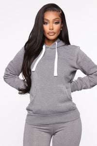 Sweet Dreams Hoodie - Heather Grey Angle 1