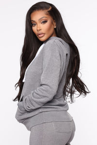 Sweet Dreams Hoodie - Heather Grey Angle 3
