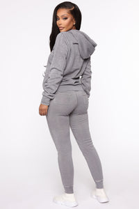 Sweet Dreams Hoodie - Heather Grey Angle 5