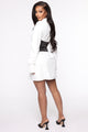 Drinks After Work Corset Shirt Dress - White