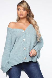 Don't Bother Me Cardigan - Blue Angle 1