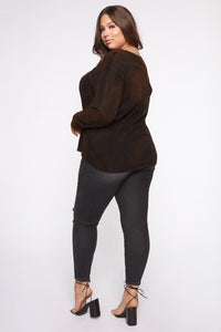 Homie And Lover Tunic Top - Black/combo Angle 10