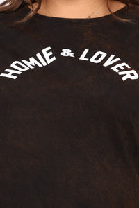 Homie And Lover Tunic Top - Black/combo Angle 11
