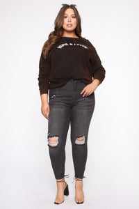 Homie And Lover Tunic Top - Black/combo Angle 7