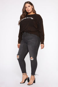 Homie And Lover Tunic Top - Black/combo Angle 9