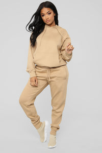 Stole Your Boyfriend's Oversized Jogger - Nude Angle 3
