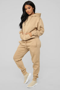 Stole Your Boyfriend's Oversized Jogger - Nude Angle 5