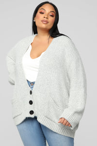 In My Feelings Cardigan - Grey