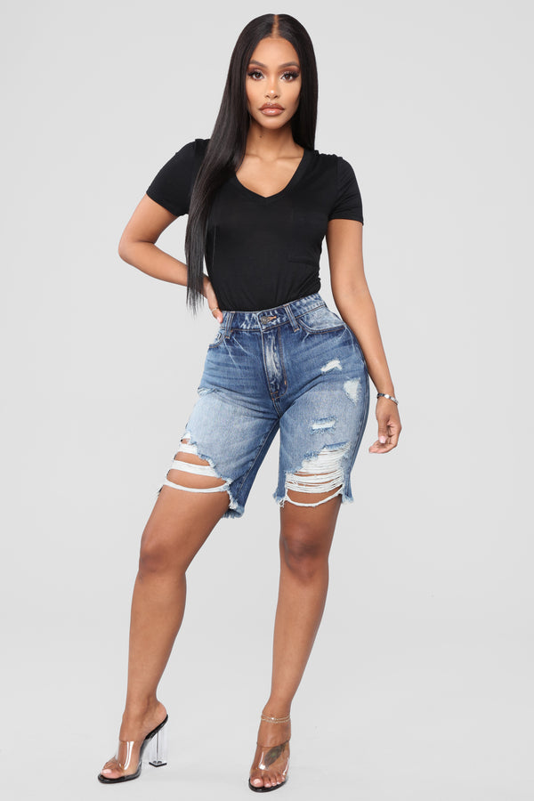 1e4113b84 Distressed/Ripped Denim Shorts