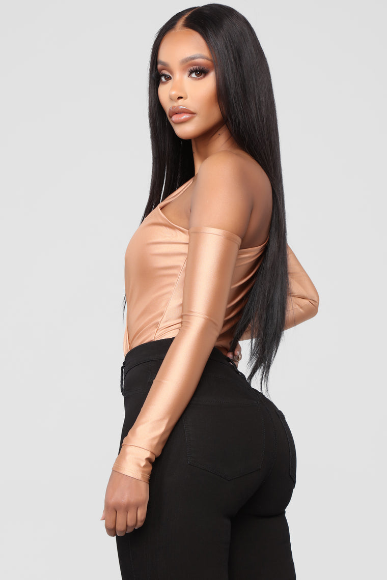 On The Edge Bodysuit - Peach