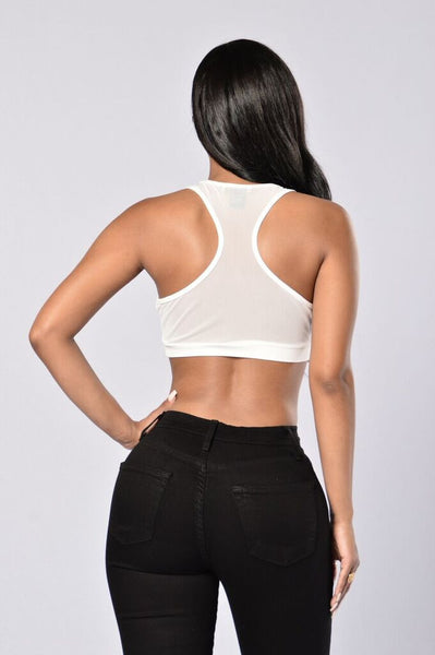Theresa Crop Top - White