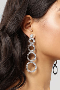 Circle Your Picks Earrings - Silver