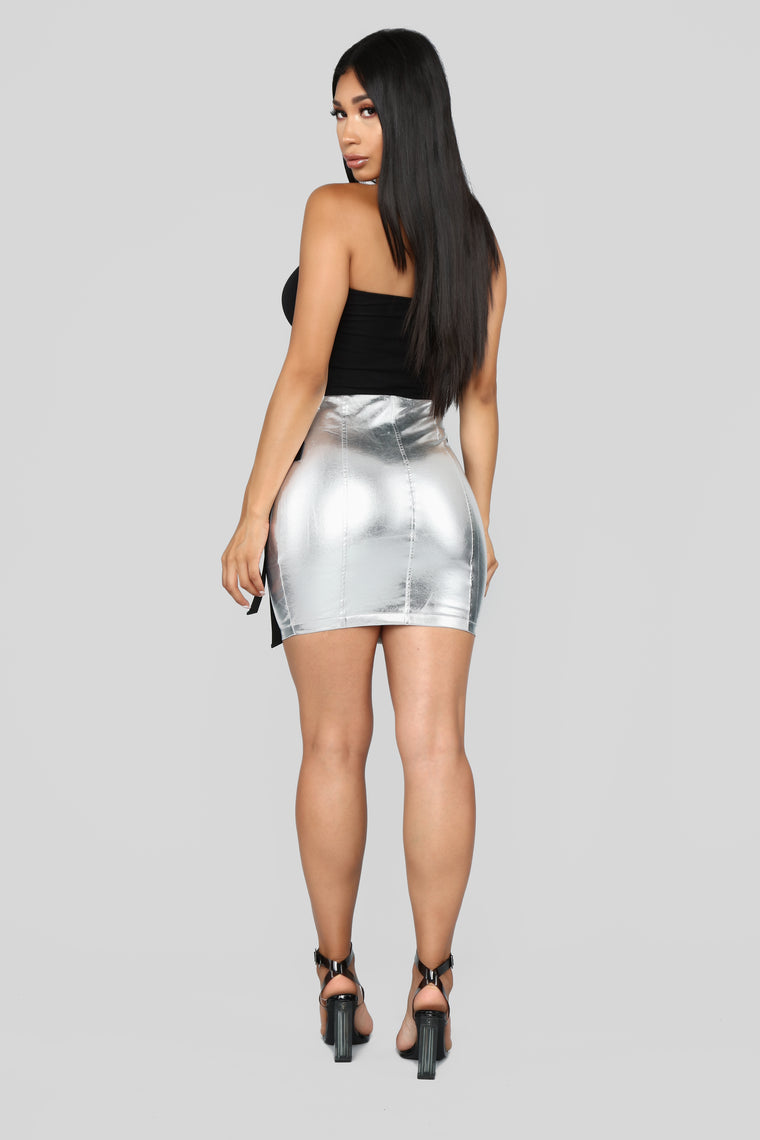 On My Own Planet Skirt - Silver