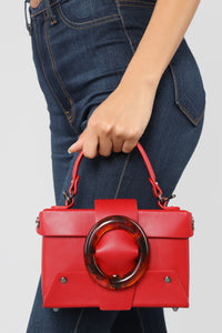 Work Lucited Crossbody Bag - Red